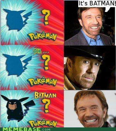 batman chuck norris pokemanz Pokémemes you-voted-this-up-because-you-were-scared-right - 4488946432