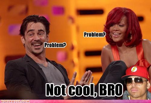 celeb,chris brown,colin farrell,funny,news,rihanna