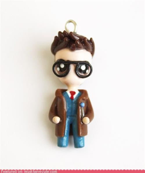 clay,doctor who,pendant,tenth doctor