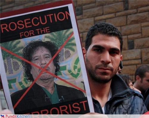 libya middle east muammar al-gaddafi protesters signs - 4489411072