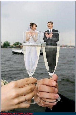 bad photoshop,champagne,funny wedding photos,glass,oyster,photoshop
