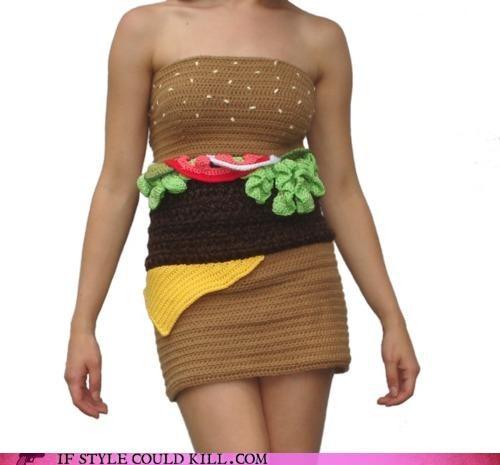 cheeseburger cheezburger cool accessories dress knit dress - 4489560320