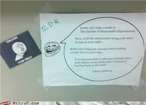 note passive aggressive tldr troll Y U NO