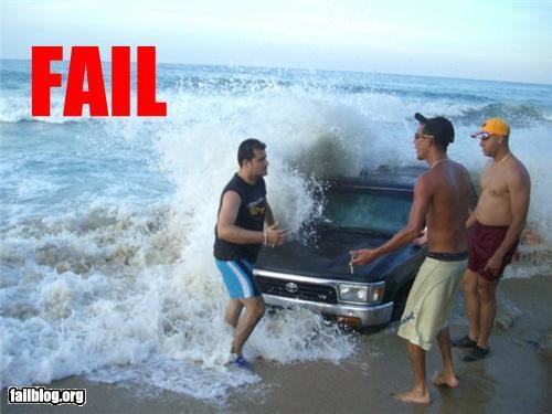 bad idea beach driving failboat g rated sand summer fails tides truck waves - 4489824512