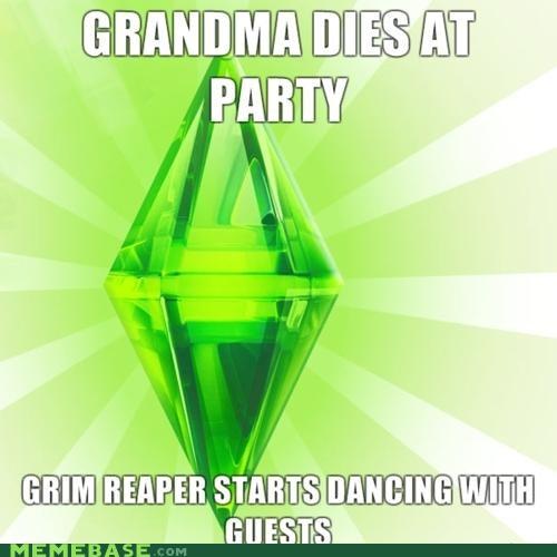 dead grandma grim reaper The Sims video game - 4489976320