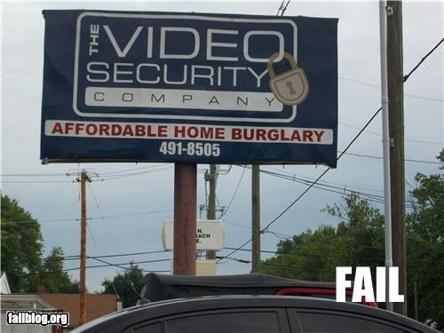 Burglary failboat g rated home security oops signs - 4490917632
