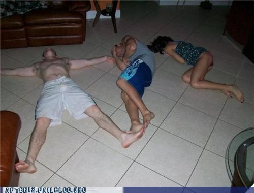 floor,friends,passed out