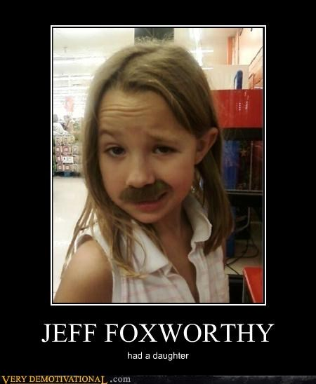 mustache,jeff foxworthy,daughter