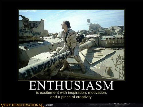 enthusiasm,tank,creativity