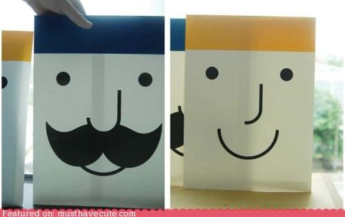 envelopes face files Office smile stationary - 4491797504