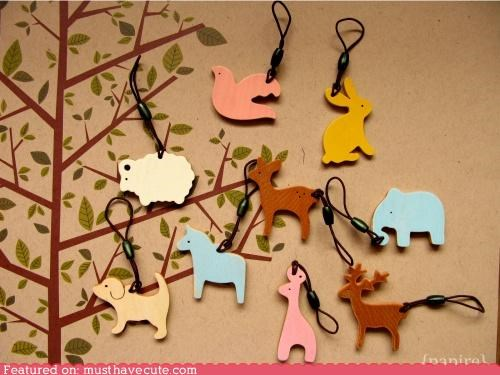 animals cell phone charm mobile ornaments - 4491808768