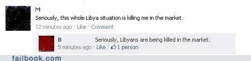 fail at life libya politics witty reply