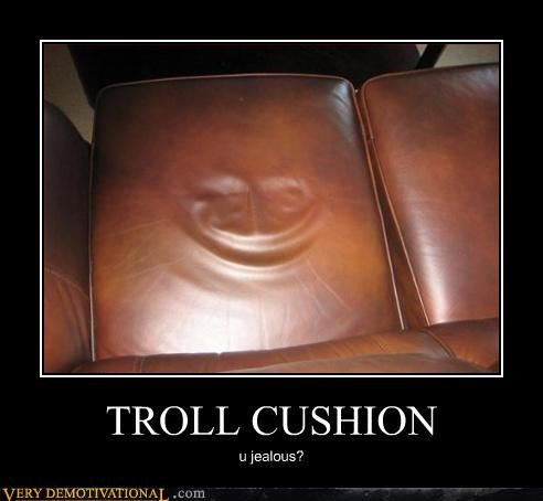 couch creepy cushion troll wtf