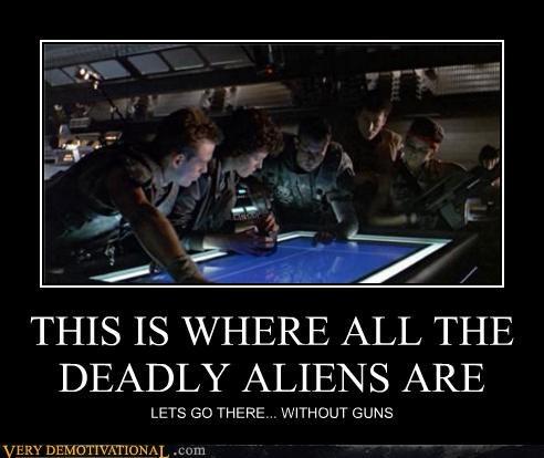 Aliens bad idea guns sci fi wtf - 4492857600