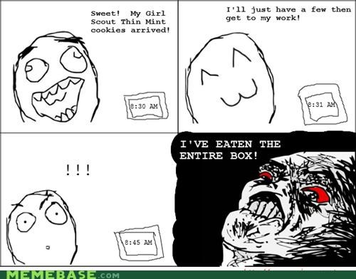 cookies,girl scouts,i accidentally the whole thing,Rage Comics