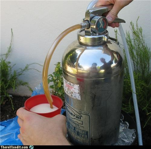 beer fire extinguishers not a kludge poll