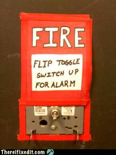 fire alarm flammable Professional At Work safety first - 4493176832