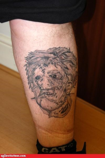 bad tattoos leatherface funny - 4493232128
