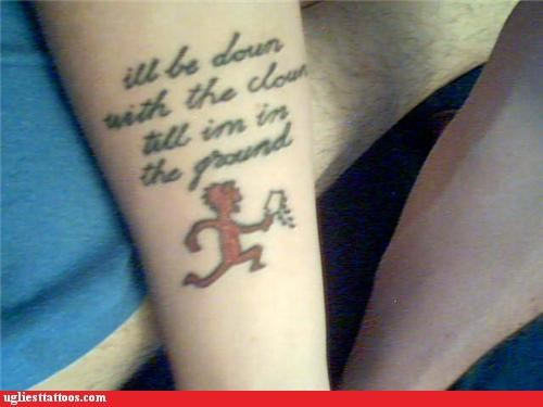 juggalos tattoos funny - 4493459712
