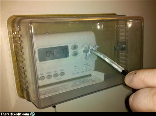 Close Enough,home repair,thermostat
