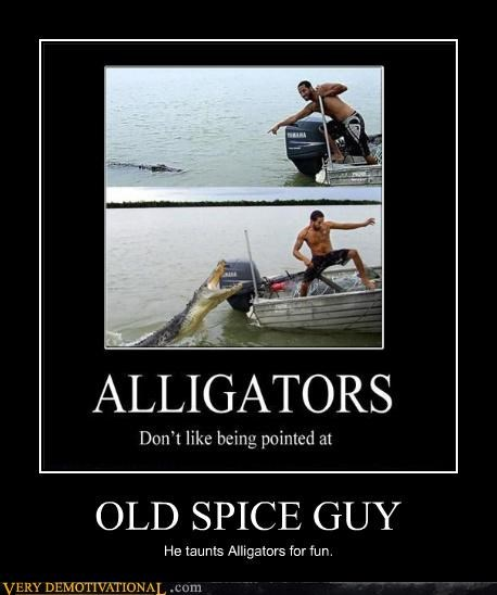 alligator old spice guy wtf bad idea - 4493694464