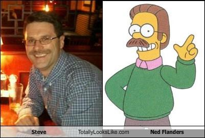 guy,ned flanders,steve,the simpsons