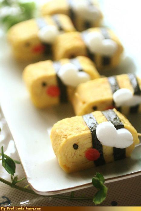 bees egg epicute omelette seaweed sushi tamagoyaki - 4494494464