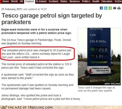 england fuel gas IRL lol pence prank tesco - 4494640384