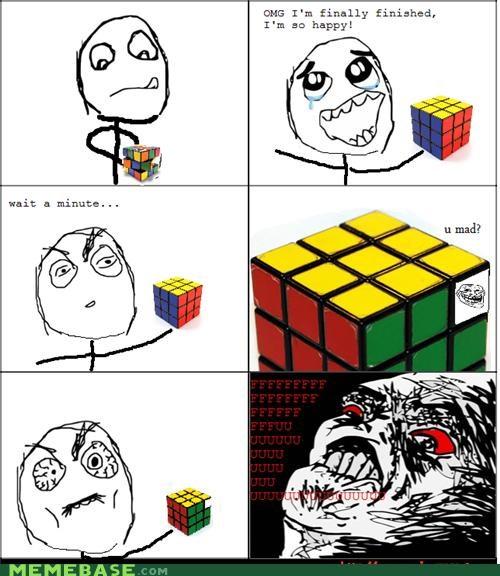 i hate it Memes puzzle Rage Comics rubiks cube - 4494655488