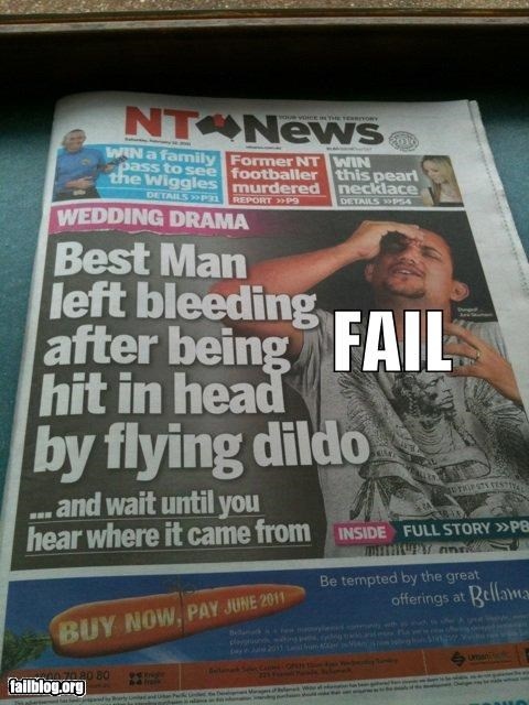 embarrassing,failboat,headshot,news,Probably bad News,sex toys,wedding,NSFW