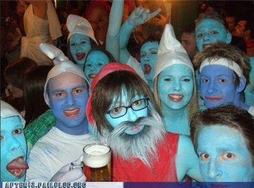 arrested development,bar,blue,club,costume,Party,smurf,weird,wtf