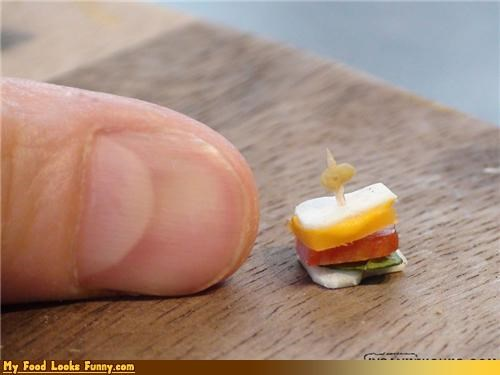 finger,miniature,sandwich,tiny