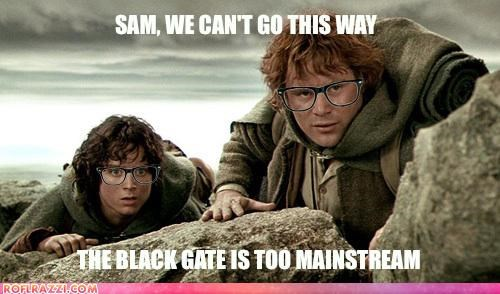 elijah wood funny Hall of Fame hipster Lord of the Rings meme sci fi sean astin - 4495195392