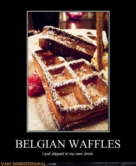 belgian waffles breakfast delicious