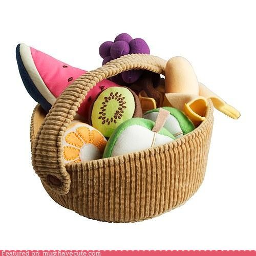 basket fabric fruit Plush - 4495497984