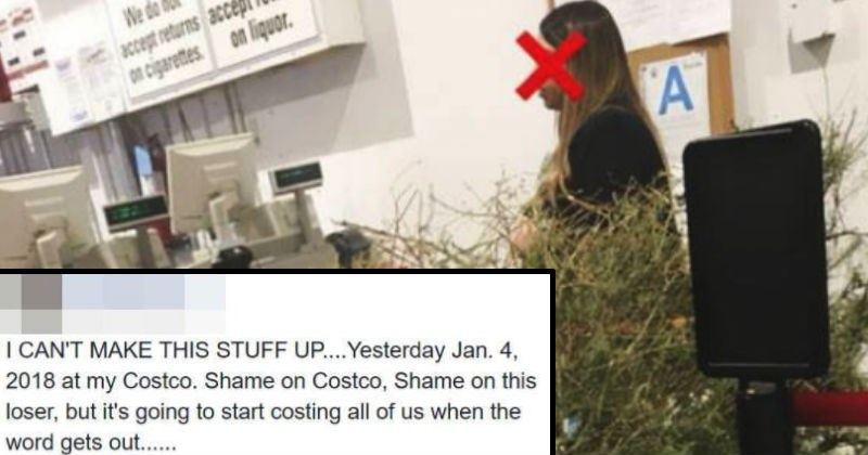 Woman tries to return a Christmas tree in January for a refund.