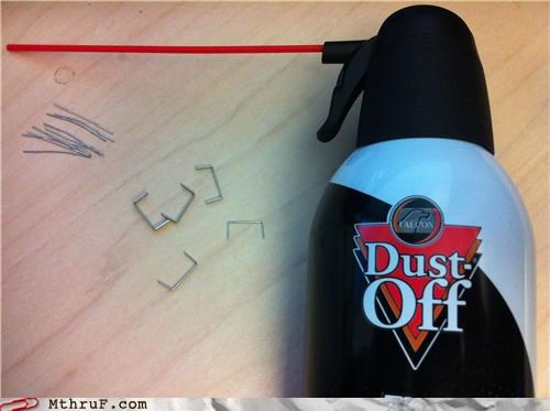 awesome,dust off,spray,staples,weapons