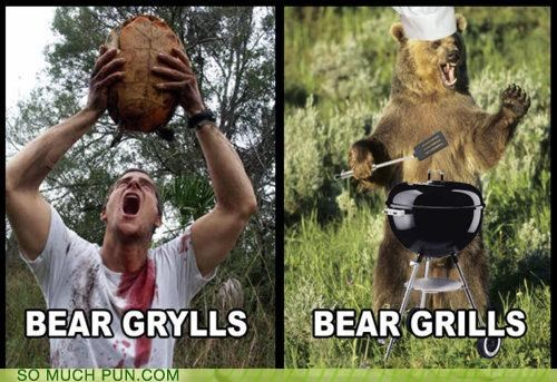 bear bear grylls concept difference former grills homophones latter literalism name similar sounding