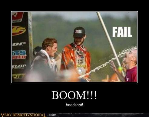champagne headshot hilarious racing wtf - 4495849472