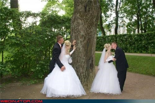 bad photoshop funny wedding photos KISS out of body wedding photoshop superimposed - 4495889408