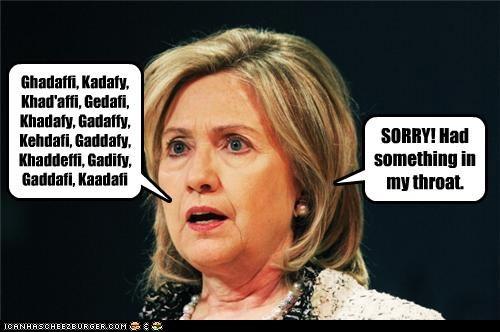 Hillary Clinton mispronunciation muammar al-gaddafi names secretary of state - 4495929344