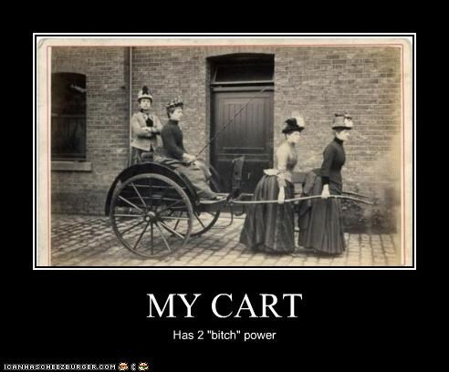 "MY CART Has 2 ""bitch"" power"