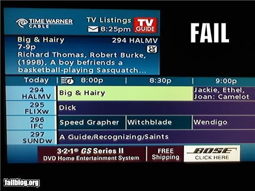 failboat,innuendos,programs,television,tv guide