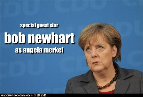 angela merkel,Bob Newhart,comedian,Germany,look alikes