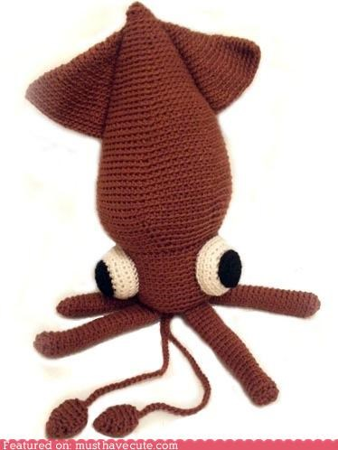 Amigurumi chrochet craft DIY giant pattern squid - 4496232704