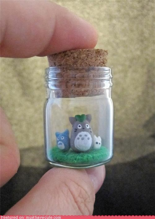 cork jar miniature tiny totoro vial - 4496244480
