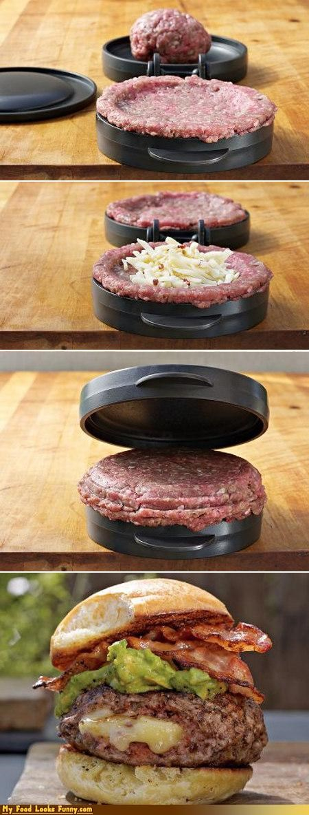 burger,cheese,mold,press,stuffed