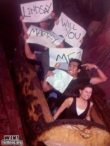 cute marriage proposal ride - 4496293888
