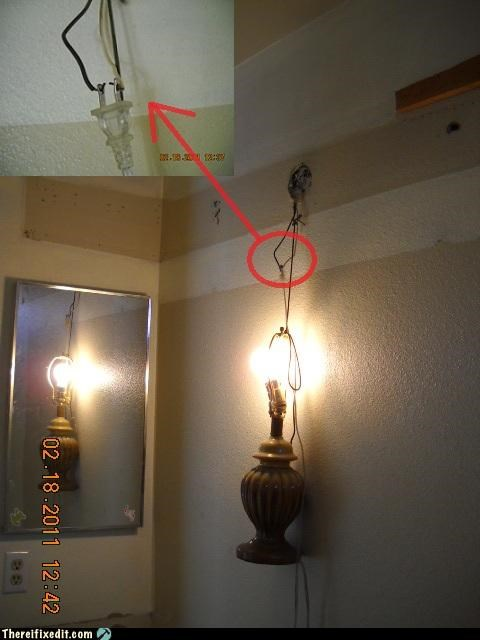 electricity hanging out lamps wiring wtf - 4497154304