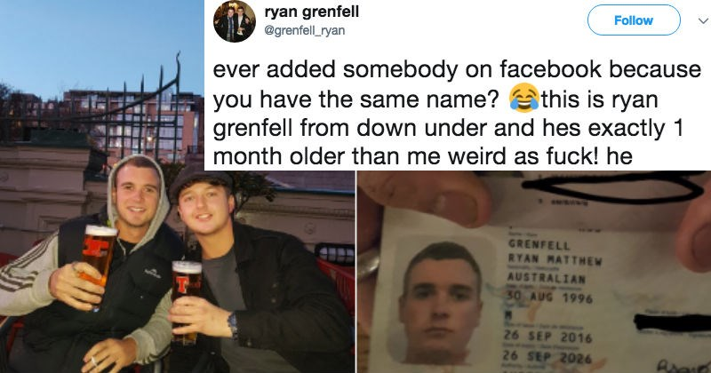 Guy shares story of meeting someone else with the exact same name and it goes viral.